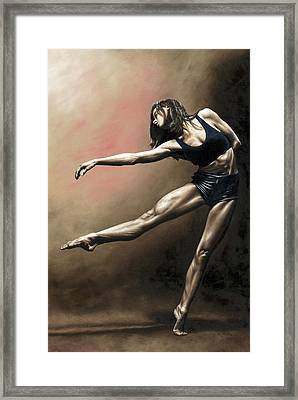 With Strength And Grace Framed Print by Richard Young