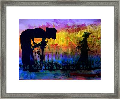 In The Sweat Of Thy Face Shalt Thou Eat Bread Framed Print by Music of the Heart