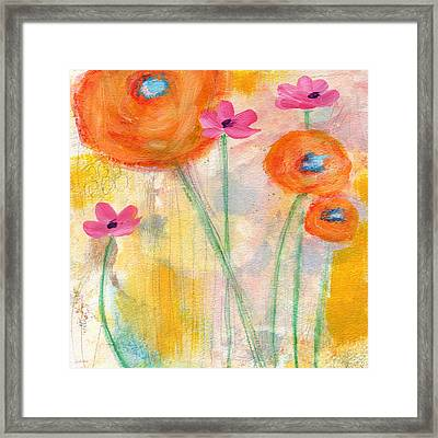 With The Breeze- Art By Linda Woods Framed Print by Linda Woods