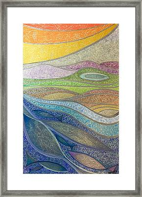 Framed Print featuring the mixed media With The Flow by Norma Duch