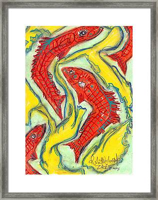 With The Flow Framed Print