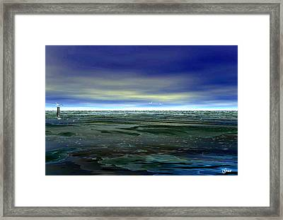 With The Incoming Tides Framed Print by Julie Grace
