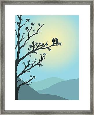 With You By My Side Framed Print