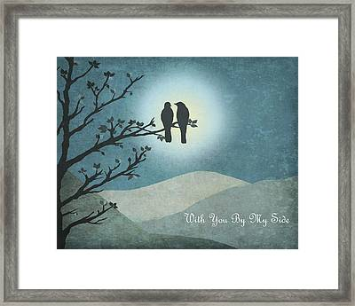 Framed Print featuring the digital art With You By My Side Landscape View by Christina Lihani