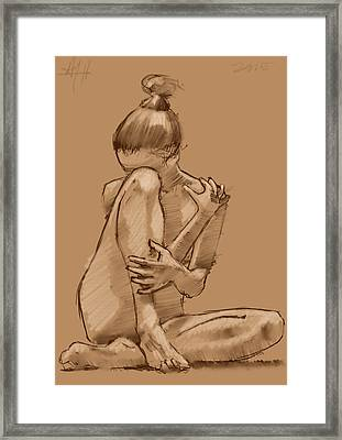 Withdrawn Framed Print
