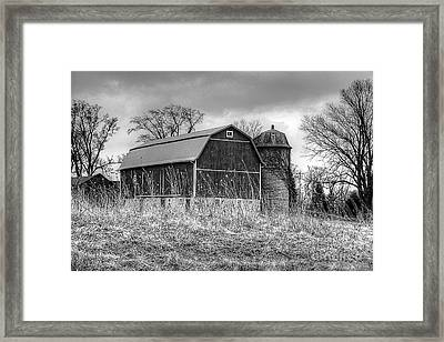 Withered Old Barn Framed Print by Deborah Klubertanz