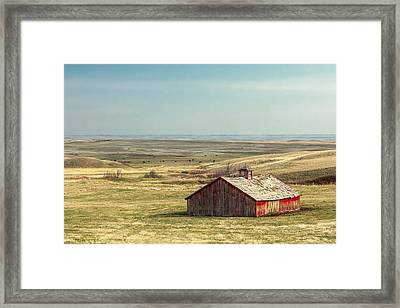 Withering Barn Framed Print