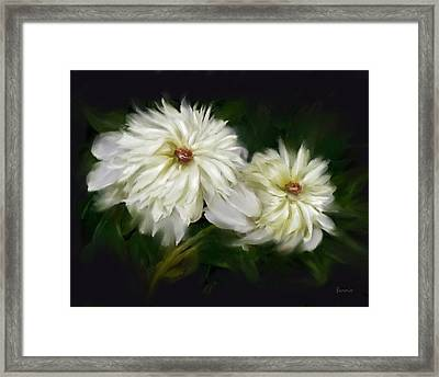 Framed Print featuring the painting Withering Peony by Bonnie Willis