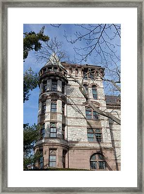 Witherspoon Hall At Princeton Framed Print by Erin Cadigan
