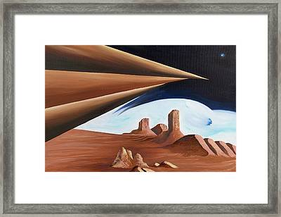 Within Our Imagination Framed Print by Ara  Elena