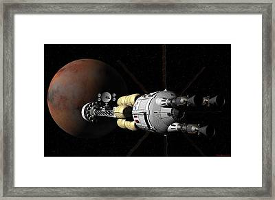 Framed Print featuring the digital art Within Sight by David Robinson