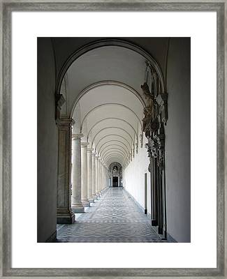Within The Castle Walls Framed Print