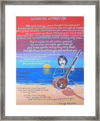 Within You Without You Framed Print by Jonathan Morrill