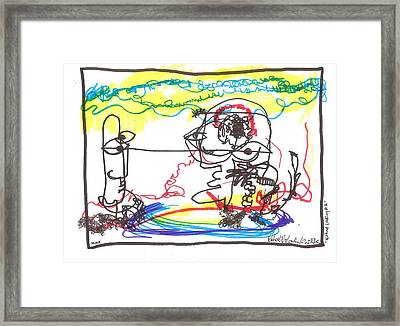 Without Looking Number Two Framed Print by Robert Wolverton Jr