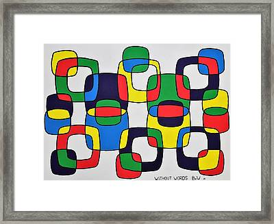 Without Words Framed Print