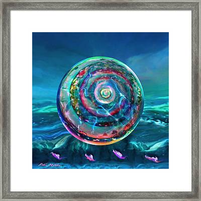 Withstanding Orby Weather Framed Print by Robin Moline