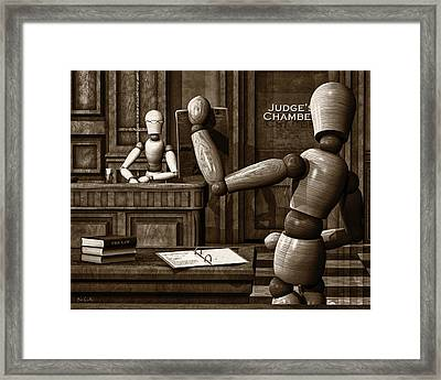 Witness For The Prosecution Framed Print by Bob Orsillo
