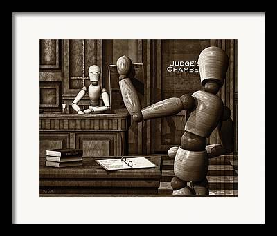Artist Modeling Dummy Framed Prints