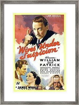 Wives Under Suspicion 1938 Framed Print