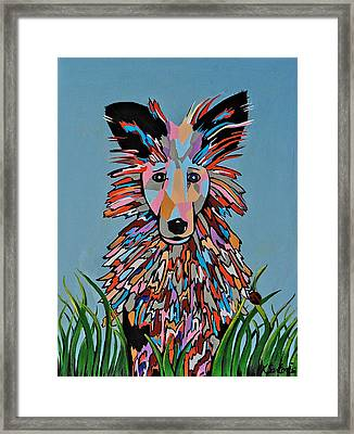 Framed Print featuring the painting Wiz by Kathleen Sartoris
