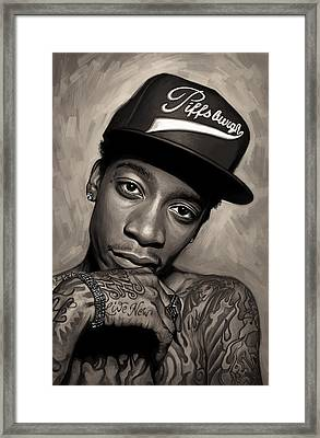 Wiz Khalifa Artwork  Framed Print by Sheraz A