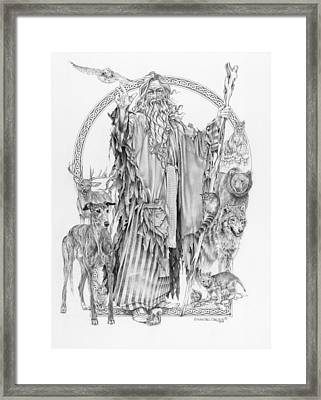 Wizard Iv - Wandering Wiseman - Pax Consensio Framed Print