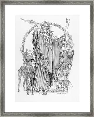 Wizard Iv - Wandering Wiseman - Pax Consensio Framed Print by Steven Paul Carlson