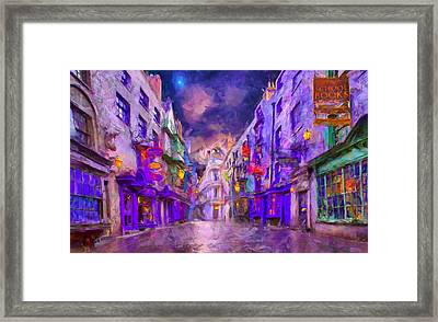 Wizard Mall Framed Print by Caito Junqueira