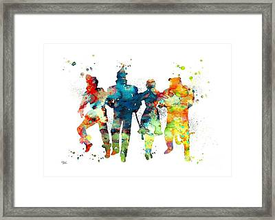 Wizard Of Oz Framed Print by Luke and Slavi