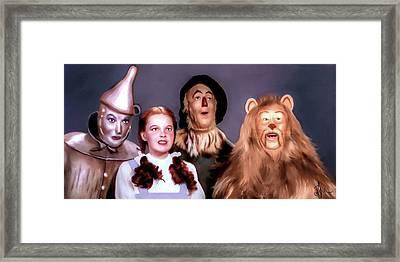 Wizard Of Oz Framed Print by Pennie  McCracken