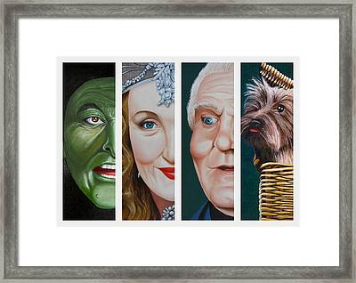 Wizard Of Oz Set Two Framed Print by Vic Ritchey