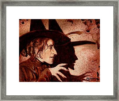 Wizard Of Oz Wicked Witch - Dry Blood Framed Print by Ryan Almighty