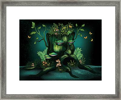 Wizard Stump Framed Print