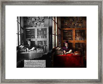 Wizard - Wizard In Training 1898-1946 - Side By Side Framed Print by Mike Savad