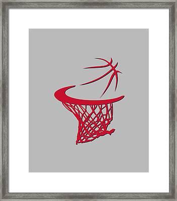 Wizards Basketball Hoop Framed Print