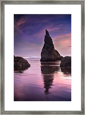 Wizard's Hat At Sunset Framed Print