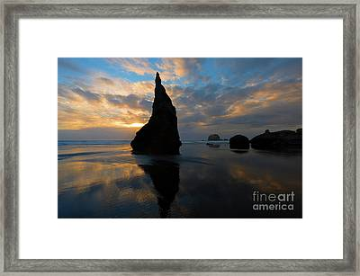 Wizards Hat Sunset Framed Print by Mike Dawson