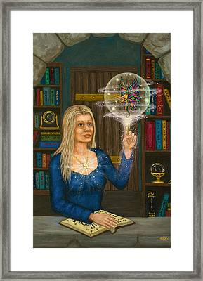 Wizards Library Framed Print by Roz Eve