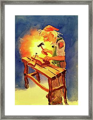 Wizard's Workbench Framed Print by Marilyn Jacobson