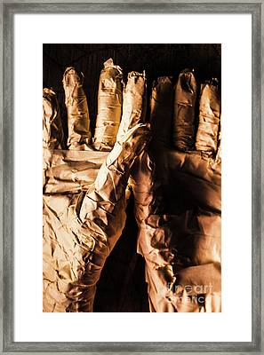 Wizened Horror Hands Framed Print
