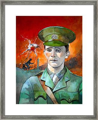 Framed Print featuring the painting W.j. Symons Vc by Ray Agius