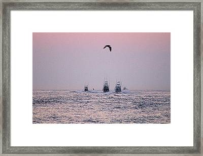 Framed Print featuring the photograph Wmo 2018 Under Pink Skies by Robert Banach