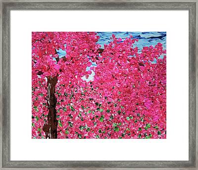Woke Up In A Pink World Framed Print