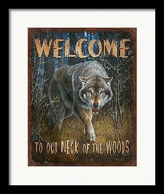 Wolf Lodge Framed Prints