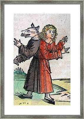Wolf Boy, Nuremberg Chronicle, 1493 Framed Print by Science Source