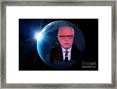 Wolf Covers The World Framed Print by John Malone