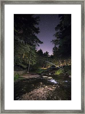 Framed Print featuring the photograph Wolf Creek Starry Night by Mark Papke
