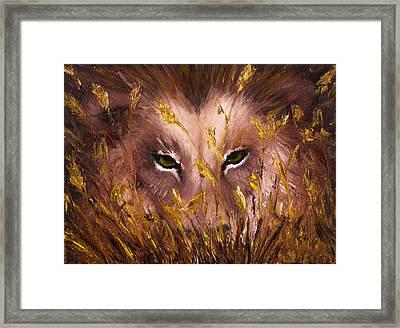 Wolf Eyes Framed Print by Boyan Dimitrov