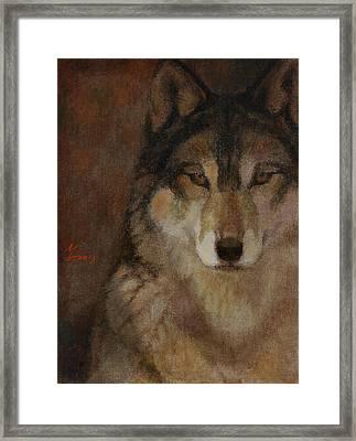 Wolf Head Framed Print