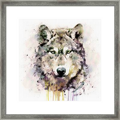 Wolf Head Framed Print by Marian Voicu
